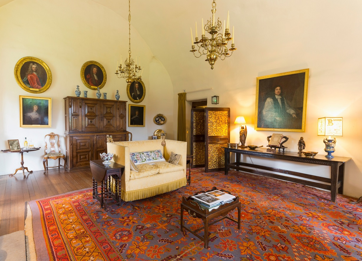 Interior at Crathes Castle; Garden and Estate A turreted tower house design from the 16th century with 17th century and 19th century extensions; east of Banchory