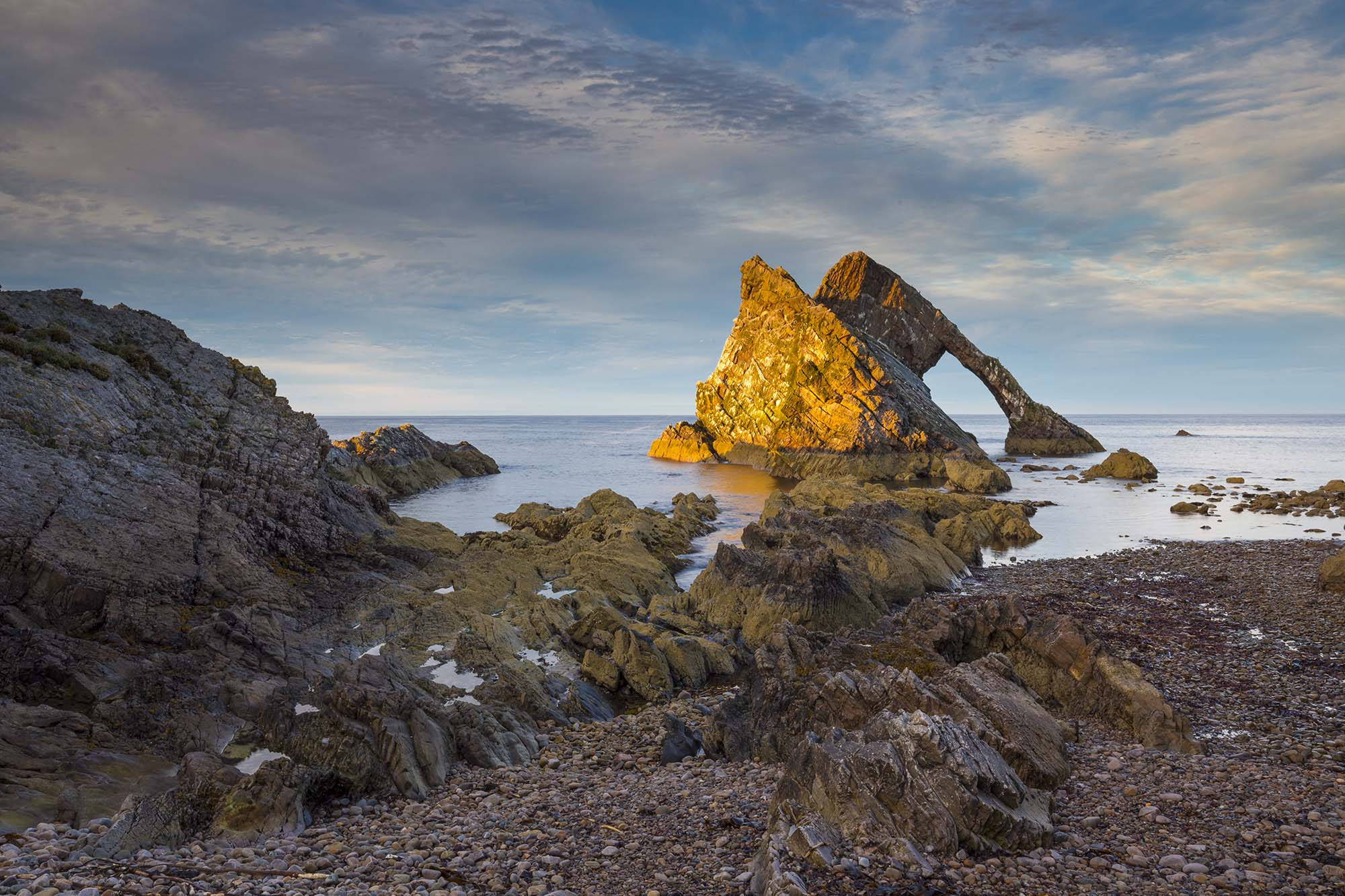 Bow Fiddle Rock, Moray.