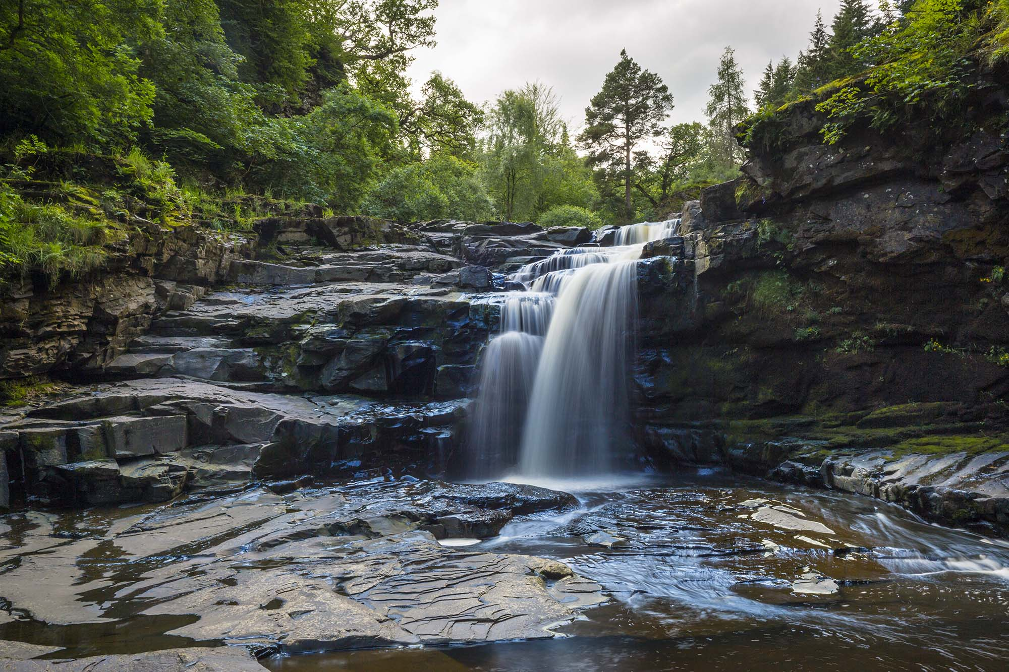 Waterfall at the Falls of Clyde.