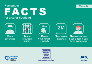 Scottish Government FACTS phase 3 poster for guidance