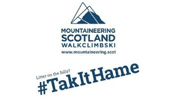 Mountaineering Scotland tak it hame campaign poster