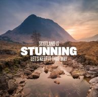 Zero Waste Scotland 'Scotland is stunning let's keep it that way' campaign poster