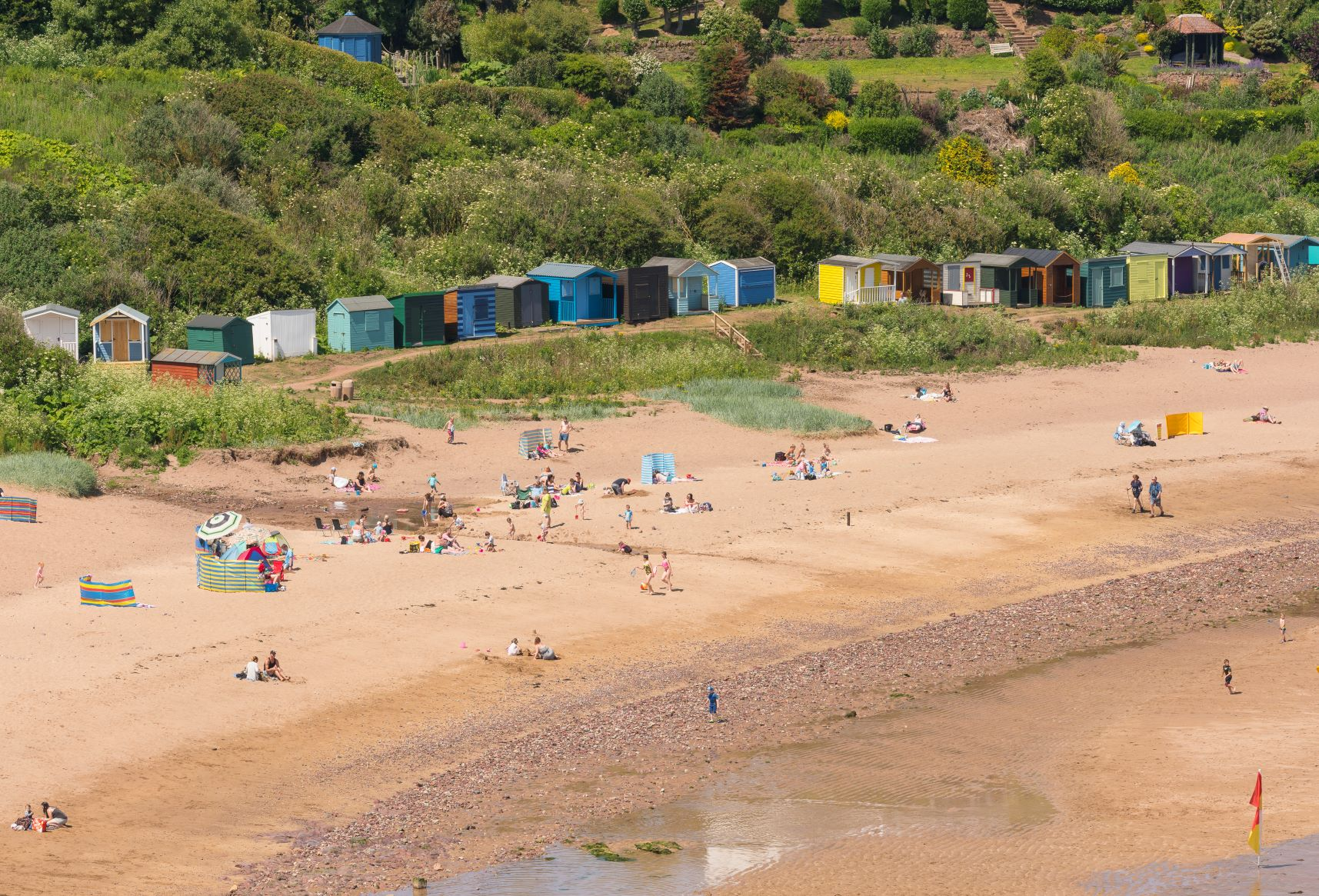 The beach at Coldingham Bay in the Scottish Borders